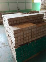 Hardwood  Sawn Timber - Lumber - Planed Timber For Sale - Squares un steamed beech (50x50 / 50x38 / 50x27 )