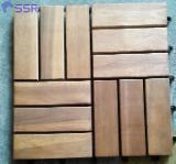 Flooring and Exterior Decking - Acacia Anti-Slip Decking Tiles, 300 x 300 x 19/24 mm
