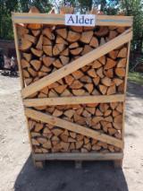 供应 - 劈好的薪柴-未劈的薪柴 薪碳材/开裂原木 角树, 橡木, 常见的黑桤