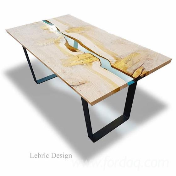 Wood table and epoxy resin for Tavolo resina epossidica