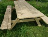 Garden Furniture - Acacia Garden Set - Table with benches