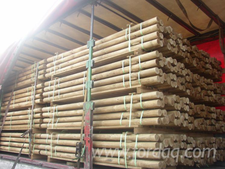 Holz Palisaden Oder Pfahle Halbholzriegel Roh Und Oder