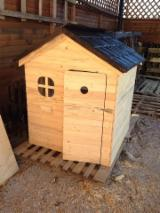 Drvena Kuća - Polugotove Drvene Grede Za Prodaju - Jela