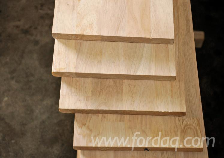 Laags massief houten paneel hevea