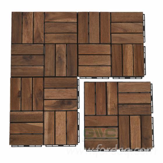 Acacia Anti Slip Interlocking Deck Tiles 19 Mm