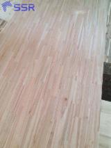 1 层实木面板, 筒状非洲楝木