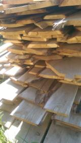 Hardwood  Unedged Timber - Flitches - Boules - Oak Loose Planks, 30 mm thick