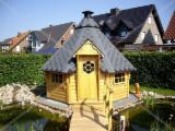 Holzhäuser - Vorgeschnittene Fachwerkbalken - Dachstuhl Zu Verkaufen - Unterschiedliche Gartenhäuser aus dem Nadelholz.
