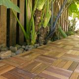 Exterior Wood Decking - Acacia Anti-Slip Decking Tiles, 15; 19; 21; 24 mm thick