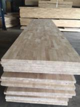 Veneer and Panels - Rubberwood Finger jointed panels from Vietnam, 18-90 mm thick