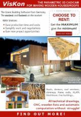 Logiciel - VisKon le CAD/CAM 3D pour dessiner/produir toits et maisons en bois