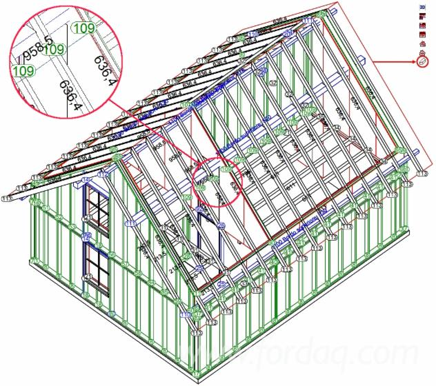 VisKon the 3D CAD/CAM to plan/produce wooden roofs and houses