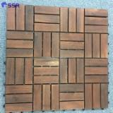 B2B Composite Wood Decking For Sale - Buy And Sell On Fordaq - FSC Acacia Anti-Slip Decking Tiles 19/24x300x300 mm