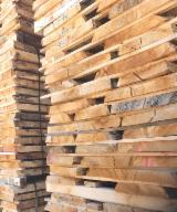 Laubholz  Blockware, Unbesäumtes Holz Frankreich - Loseware, Eiche