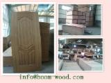 China Mouldings, Profiled Timber - HDF Natural Teak Veneer Door Skin