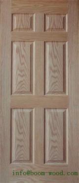 China Mouldings, Profiled Timber - HDF Natural Red Oak Door Skin