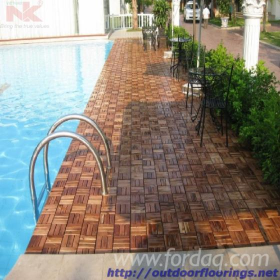 Anti slip wood deck tiles for bath rooms and swimming pools - Non slip tiles for swimming pools ...