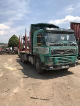 Camion Transport Busteni - Volvo macara forestieră remorca transport Bușteni
