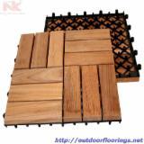 null - Vend Lame De Terrasse (1 Face Rainurée) Acacia Vietnam