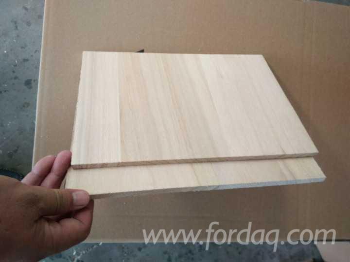 Surfboard snowboard wood core paulownia edge glued board