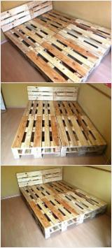 Melaleuca Pallets for Decorating, 120 x 800 x 1000 mm