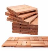 Vloeren Planken en Buitenvloeren Terrasplanken - Eucalyptus, FSC, Antislip Vloerplanken ( 1 Kant)
