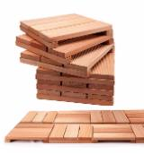 Eucalyptus Garden Wood Tiles, FSC, 42 mm