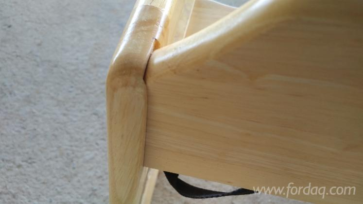 Rubberwood Baby High Chair