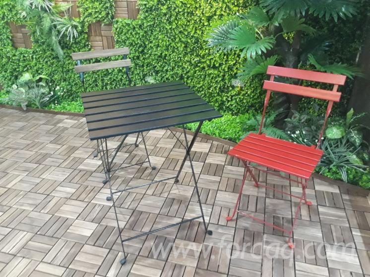 Acacia Wood Table And Chair Set Folding Outdoor Furniture Set