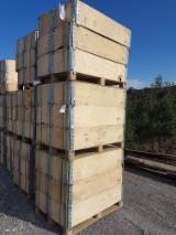 托盘-包装及包装材 欧洲  - 木盖-框架, 可循环-使用状态良好