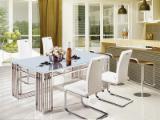 Design Living Room Sets - Glass / Stainless Steel Set