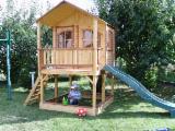 家具及花园产品 - 云杉-白色木材, 亭子-露台
