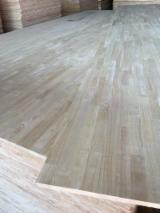 1 层实木面板, 橡胶木