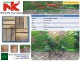 Exterior Decking  Composite Wood  - WPC Wood Plastic Components - Anti-Slip Composite Wood Decking Tiles, 19; 24 mm thick