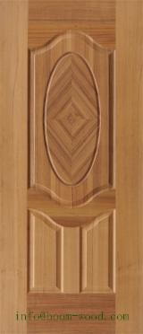 Mouldings, Profiled Timber for sale. Wholesale Mouldings, Profiled Timber exporters - Natural Teak Veneer Door Skin, 3 mm thick