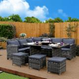 Stainless Steel Garden Furniture - Corner Sofa Set For Garden - Rattan Furniture