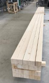 Softwood  Glulam - Finger Jointed Studs For Sale - Spruce Glulam Straight Beams 135 x 135 mm