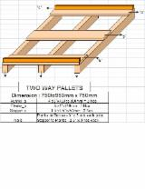 Any  Pallets And Packaging - Any Semi Assembled Abura / Iroko / Azobe Pallets