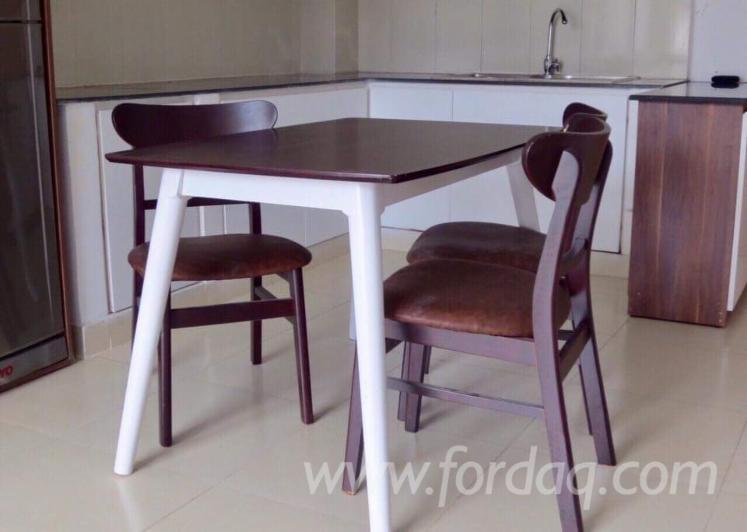 Vendo Set Sala Da Pranzo Contemporaneo Latifoglie Asiatiche Rubberwood (Hevea)
