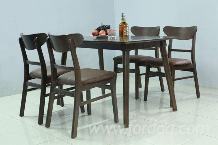 Contemporary Rubberwood Dining Room Sets