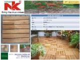 Exterior Wood Decking - Factory price for Solid Acacia Deck Tile Exterior Application