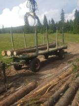 Oprema Za Šumu I Žetvu - Prikolica S Pokretnim Podom Panav Polovna Rumunija