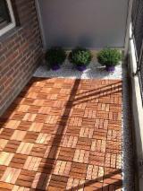 Exterior Wood Decking - Acacia Anti-Slipping Decking Tiles 19; 24 mm