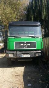 Oprema Za Šumu I Žetvu Kamion Za Prevoz Kraćih Stabala - Kamion Za Prevoz Kraćih Stabala Man Polovna 1998 Rumunija