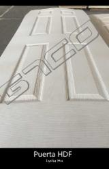 Wood Components, Mouldings, Doors & Windows, Houses - White Premier HDF Door Skin /3'X7'X3mm White Moulded Door Skin