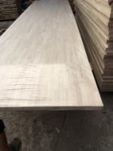 Paneles Alistonados, Paneles De Laminas Empalmadas en venta - Venta Panel De Madera Maciza De 1 Capa Hevea 15/18/22/30/33/40/44/51/56/63 mm Vietnam