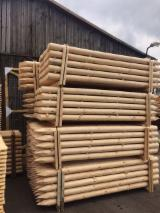 FSC Certified Softwood Logs - Pine Stakes, FSC, diameter 8; 10; 12; 14 cm