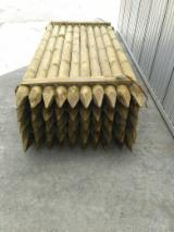 Cylindrical Trimmed Round Wood - FSC Pine Stakes, diameter 5-18 cm