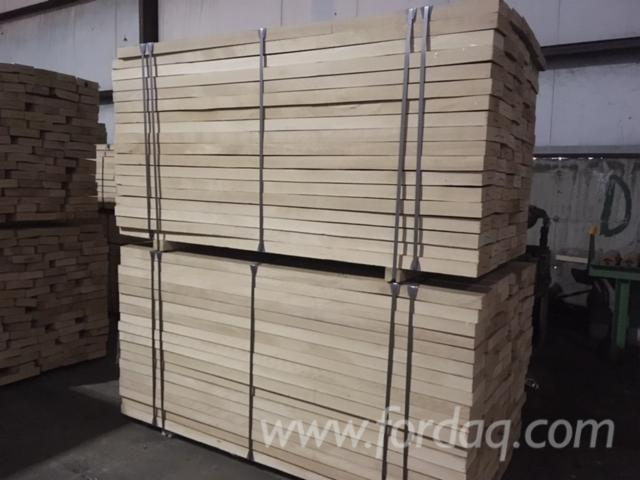 Beech lightly steamed lumber KD S/E 50mm