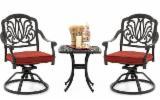 Entertainment Centers - Aluminium Bar Table and Chair